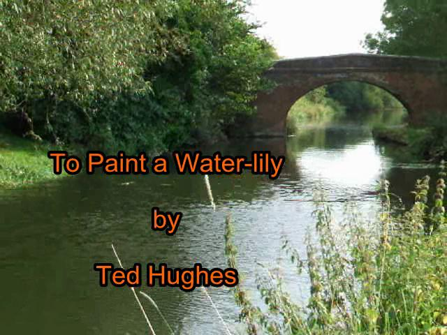"to paint a water lily by ted hughes essay Well-written essay, compare and contrast the poems, analyzing the significance of dark or night in each in 2006b poem: ""to paint a water lily"" (ted hughes."