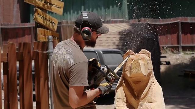 Justin bailey chainsaw carving demo on vimeo