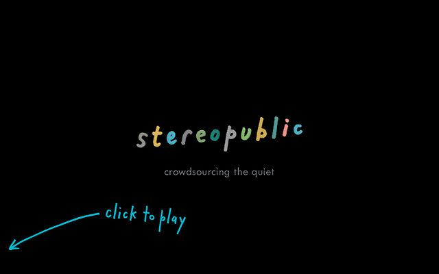 stereopublic (crowdsourcing the quiet) : teaser video