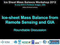 Ice Sheet Mass Balance Discussion at ISMASS 2012