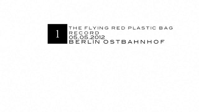 the red flying plastic bag