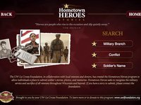 UW La Crosse - Veterans Hall of Fame - Hometown Heroes Interface