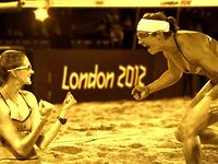 Visa Olympics 2012: Kerri Walsh Jennings & Misty May-Treanor 3rd Gold Congratulatory