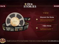 UW La Crosse - Veterans Hall of Fame - Our Stories Interface