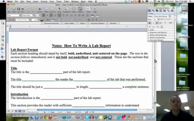write a lab report introduction