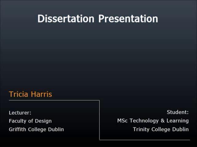 Dissertation Presentations