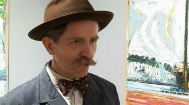 Billy Childish: &quot;it&#039;s very large pointillism&quot;