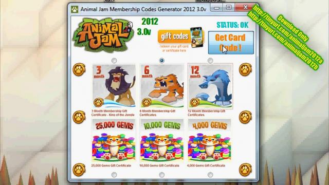 Animal Jam Codes http://vimeo.com/47605269