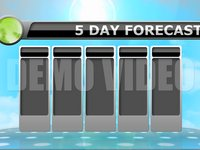 Weather 2 – 5 Day Stock Animated Background (no icons)