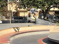 Sebo Walker backside flip out of the dish at Stoner Plaza.  (the first time)