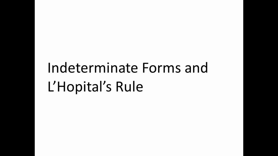 L-Hospital Rule