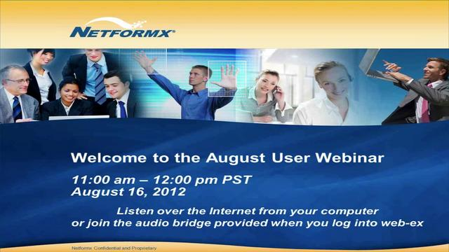 August 2012 User Webinar