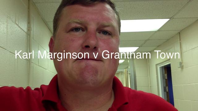 Karl Marginson post match v Grantham Town