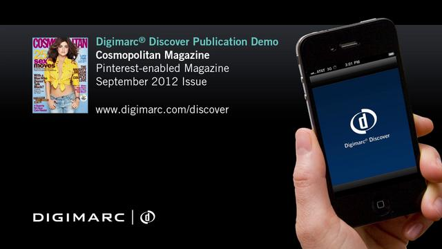 Cosmopolitan (Sept 2012) - Digimarc Discover Example