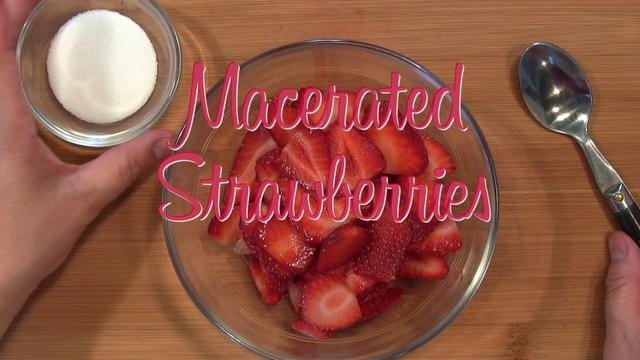 Macerate Strawberries