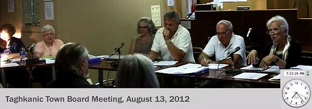 Aug 13, 2012: Taghkanic Town Board Meetingtaghkanic town