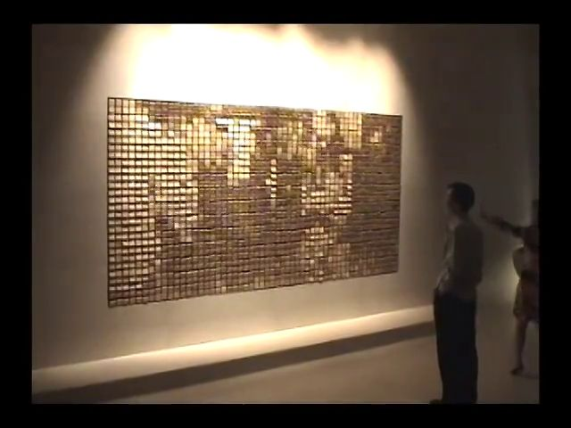 """Wooden Mirror"" at W Hotel Seoul (2003) by Daniel Rozin"