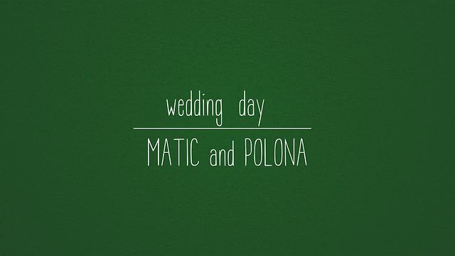 Polona and Matic Wedding day - Stop motion