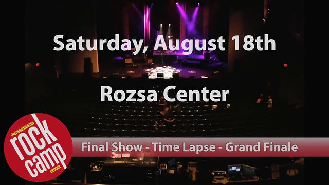 PJ Olsson's Rock Camp - Short Version Final Show Time Lapse