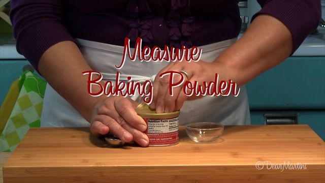 How to Measure Baking Powder