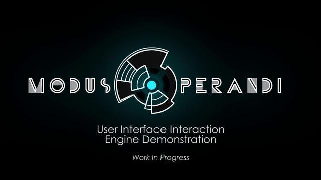 Modus operandi user interface interaction demonstration