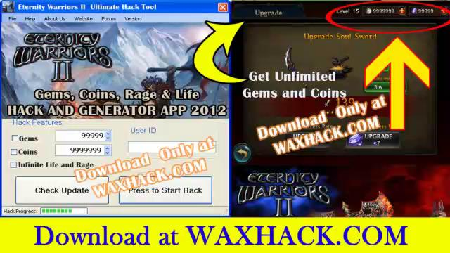 Eternity Warriors 2 Cheats - Get 9999999 Coins and Full Rage Bar for