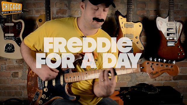 """""""Freddie For A Day"""" - Alex Chadwick (100 Riffs) plays Freddie Mercury Montage on Guitar"""