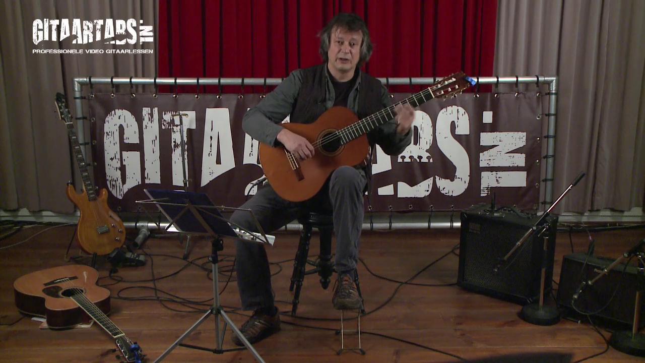 Beginners gitaarles - houding gitaar