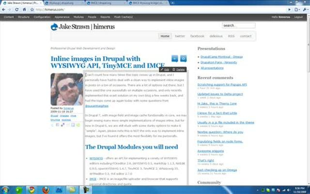 Inline images in Drupal with WYSIWYG API, TinyMCE and IMCE