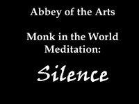 Monk in the World Meditation Silence
