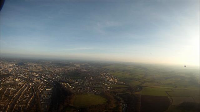 Hot Air Balloon Flight From Saltford 11-03-2012 PM