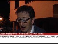 Le opere di Angelo Barone all'inaugurazione della Monte Pruno
