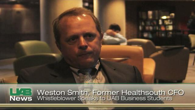 HealthSouth Whistleblower Lectures UAB Students on Company Fraud
