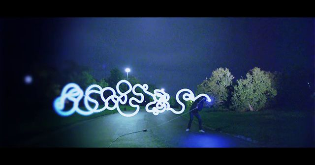 Impressive Live Light Painting