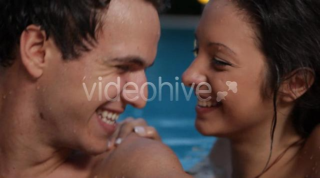 Couple Kiss In Swimming Pool On Vimeo