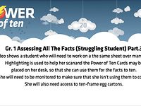 GRADE 1: ASSESSING ALL THE FACTS PART 3