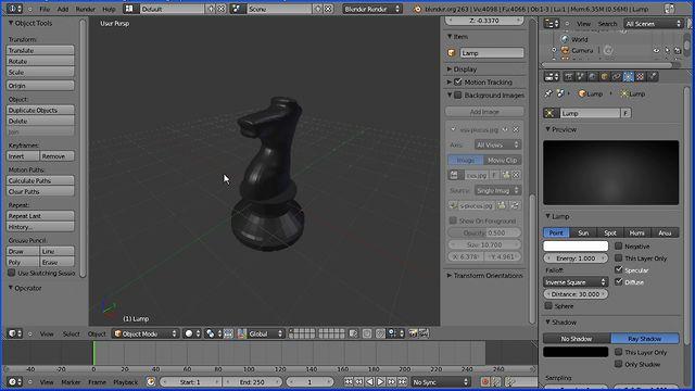 Blender 2 6 Character Modeling Tutorial : Blender modelling tutorial making a knight chess