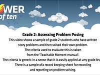 GRADE 2 - ASSESSING PROBLEM POSING