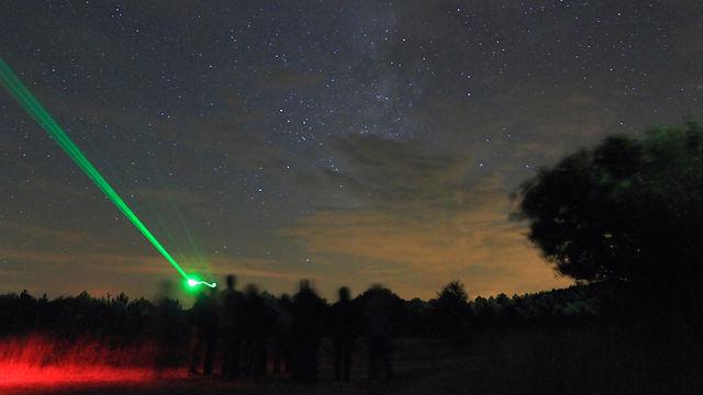 Incendio lejano durante observación astronómica