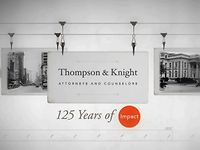 Thompson Knight 125 years of impact