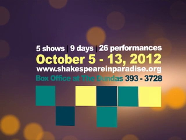 Shakespeare in Paradise 2012