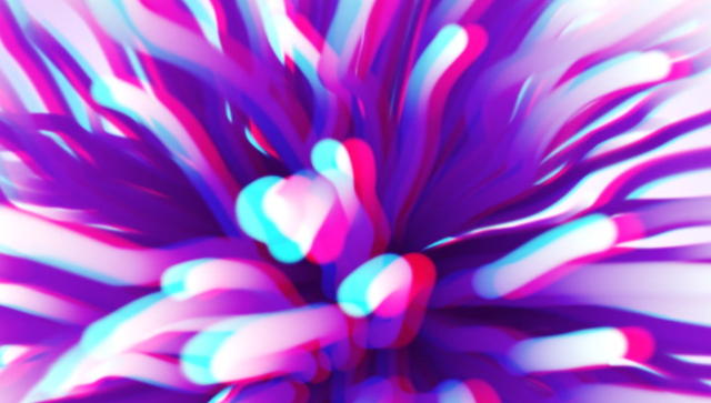 Trapcode particular sea anemone in stereoscopic 3d