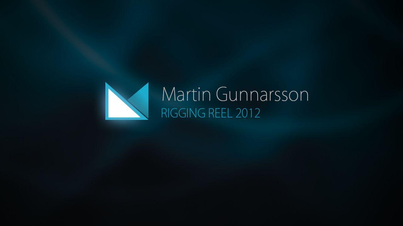 Martin Gunnarsson Rigging Reel 2012