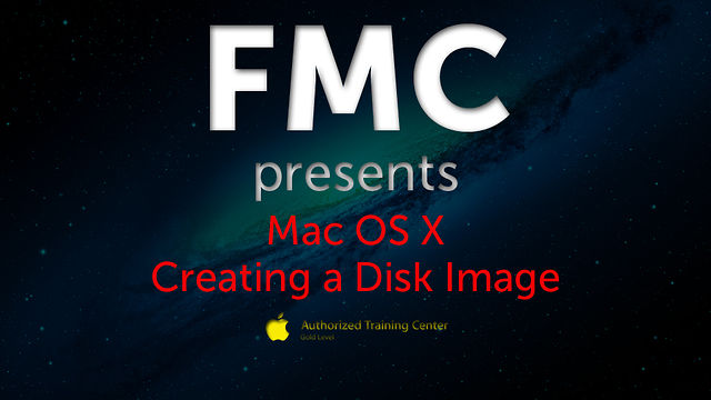 Creating a Disk Image on Mac OS X