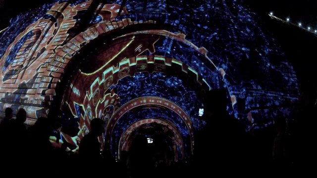 Manhattan Bridge Video Projection