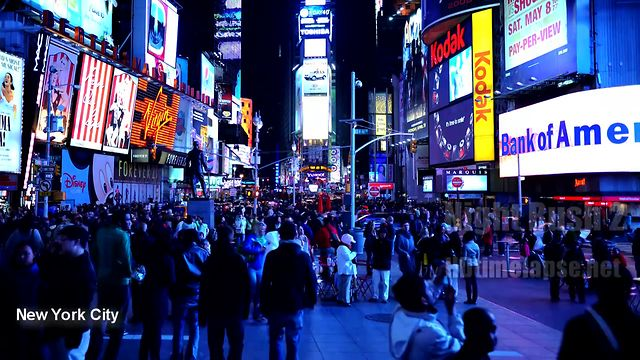Ultra HD, 2K, 4K Time Lapse Stock Footage Showreel 2011 - Night Rush Around the World 2