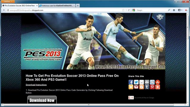 Pro Evolution Soccer 2013 Online Pass Keys Unlock Tutorial - Xbox 360 ...