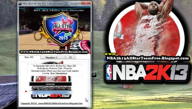 Install-unlock NBA 2K13 All-Star Team DLC Redeem Code
