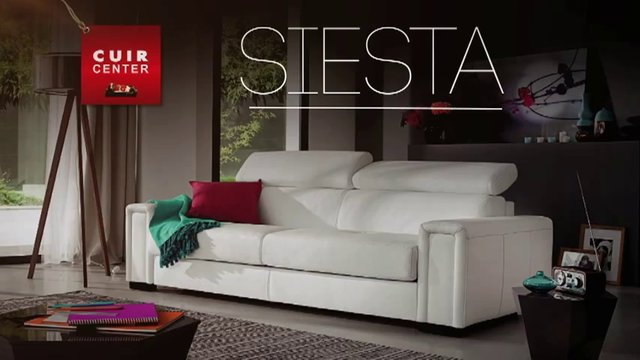 cuir center canap lit 3 places siesta on vimeo. Black Bedroom Furniture Sets. Home Design Ideas