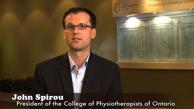 John Spirou, President of the College of Physiotherapists of Ontario
